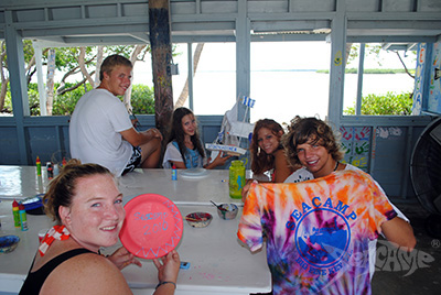 Various arts and crafts projects at Seacamp